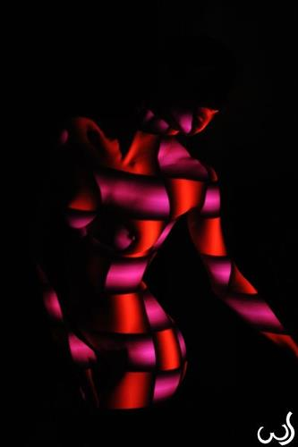 Wolfgang Schroffner, Colourful, Akt/Erotik: Akt Frau, Menschen: Frau, Konzeptkunst