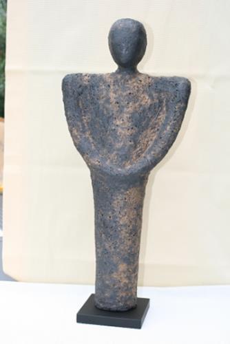 Annamarie + Vic Zumsteg, Skulptur schwarz (Annamarie Zumsteg), Dekoratives