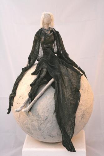 Vic Zumsteg, Lady auf Kugel (Vic Zumsteg), Dekoratives, Abstraktes