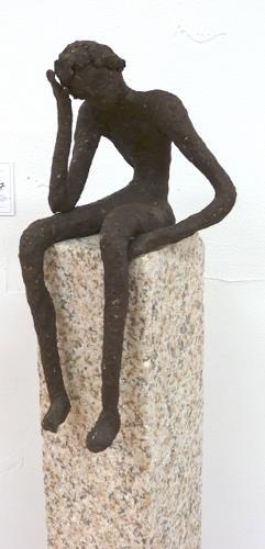 Annamarie + Vic Zumsteg, der Denker (Vic Zumsteg), Abstraktes, Dekoratives, Abstrakter Expressionismus