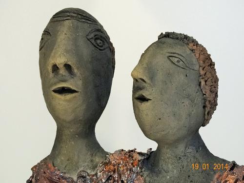 Annamarie + Vic Zumsteg, das Paar (Annamarie Zumsteg), Abstraktes, Dekoratives, Expressionismus