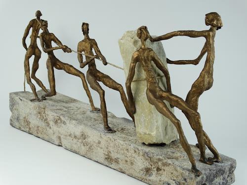 Annamarie + Vic Zumsteg, gemeinsam sind wir stark (Vic Zumsteg), Fantasie, Dekoratives, Expressionismus
