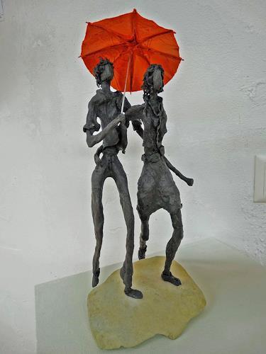 Vic Zumsteg, Wolking in the rain, Abstraktes, Dekoratives, Expressionismus