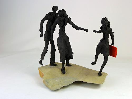 Annamarie + Vic Zumsteg, Loslassen  / to let loose (Vic Zumsteg), Abstraktes, Menschen: Familie, Art Déco, Abstrakter Expressionismus