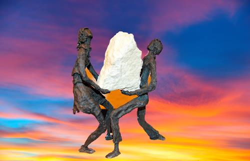 Annamarie + Vic Zumsteg, We make it  /  Wir schaffen das (Vic Zumsteg), Dekoratives, Gefühle: Freude, Abstrakte Kunst, Abstrakter Expressionismus