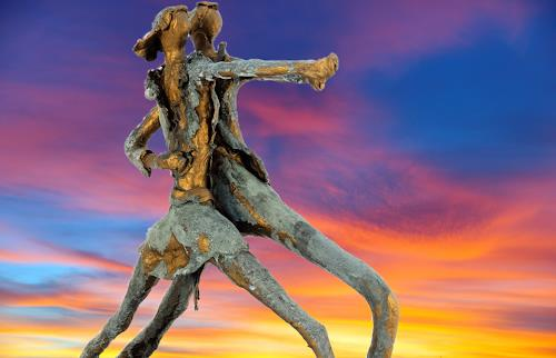 Annamarie + Vic Zumsteg, Dancing star (Vic Zumsteg), Abstraktes, Dekoratives, Art Déco, Expressionismus