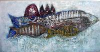 Anneliese-Di-Vora-Tiere-Wasser-Abstraktes-Moderne-Abstrakte-Kunst