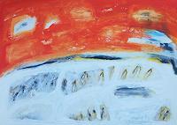 Billa-Sonne-Abstraktes-Moderne-Abstrakte-Kunst-Informel