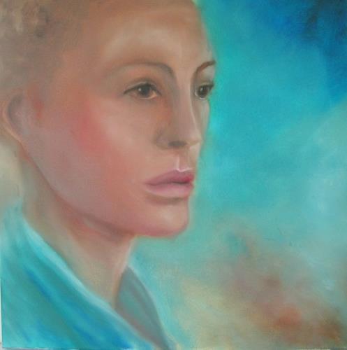 Petra Foidl, Im Erkennen liegt ein Zauber, Menschen: Frau, Menschen: Gesichter, Gegenwartskunst, Expressionismus