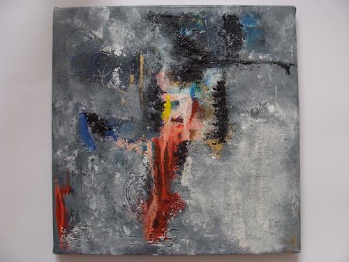 Ursula Bieri, Winterzeit I, Abstraktes, Landschaft: Winter, Abstrakte Kunst