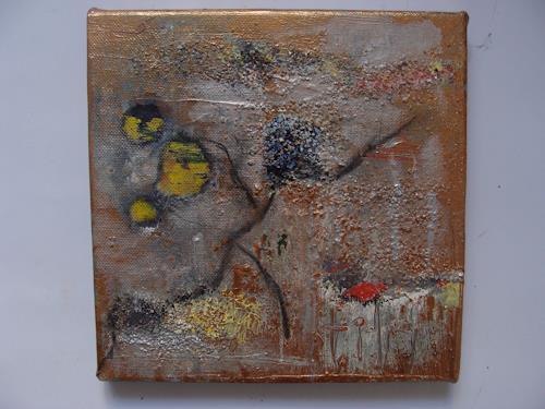 Ursula Bieri, Winterzeit II, Abstraktes, Landschaft: Winter, Abstrakte Kunst