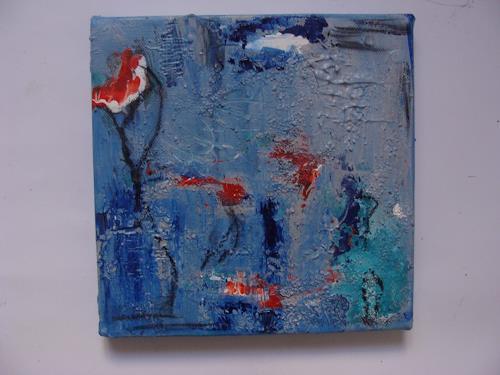 Ursula Bieri, Winterzeit III, Abstraktes, Landschaft: Winter, Abstrakte Kunst