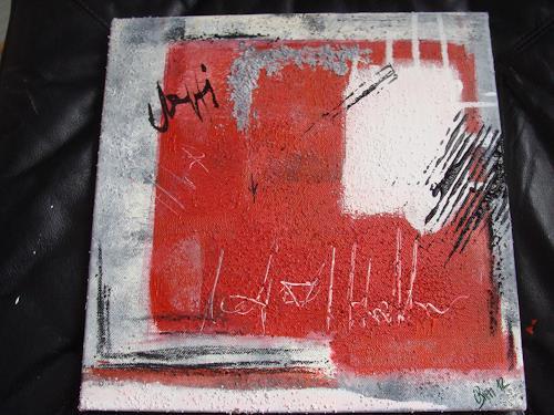 Ursula Bieri, Rot, Abstraktes, Fantasie, Abstrakte Kunst