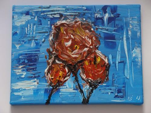 Ursula Bieri, Eisblume, Abstraktes, Pflanzen: Blumen, Moderne