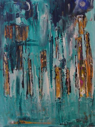 Ursula Bieri, die Stadt in der ich wohne, Abstraktes, Wohnen: Stadt, Abstrakte Kunst