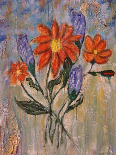 Ursula Bieri, Blumen, Abstraktes, Pflanzen: Blumen, Moderne