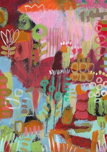 Christa Otte-Kreisel, il giardino, Diverse Pflanzen, Abstrakter Expressionismus, Expressionismus
