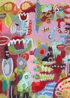 Christa-Otte-Kreisel-Pflanzen-Blumen-Moderne-Abstrakte-Kunst