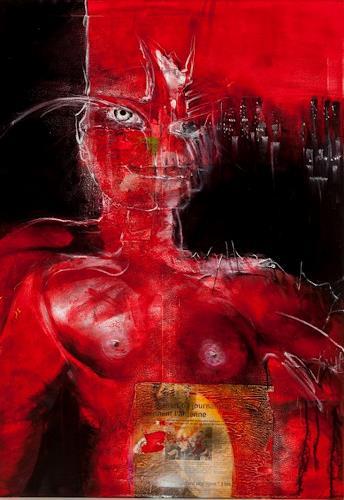 Peter K. Endres, Red Amazone, Diverse Erotik, Mythologie, Gegenwartskunst, Abstrakter Expressionismus