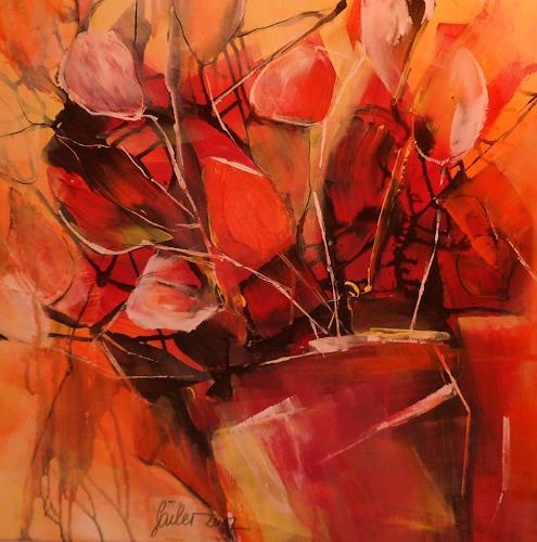 christiane sailer, Flowers, Dekoratives, Gegenwartskunst, Expressionismus