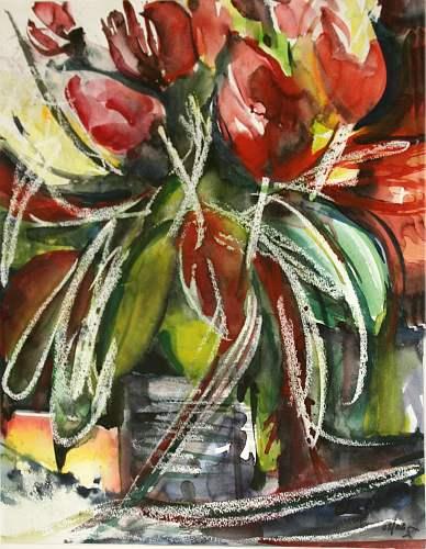 Gertraud Wagner, Tulpen, Pflanzen: Blumen