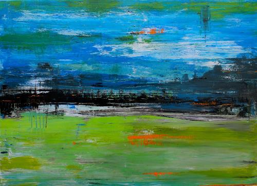 Birgit Dierker light ii birgit dierker abstraktes landschaft see