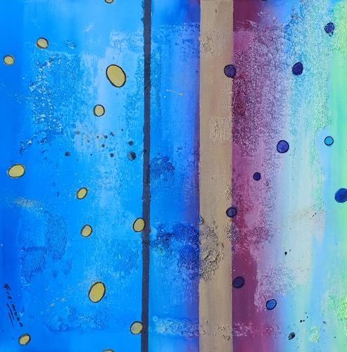 Florian Freeman, Bubble, Bubble, Goldbubble, Abstraktes, Landschaft: See/Meer, Informel