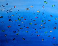 Florian-Freeman-Tiere-Wasser-Landschaft-See-Meer-Moderne-Art-Deco