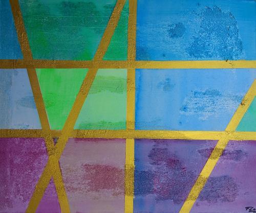 Florian Freeman, Pleasant Deco, Abstraktes, Dekoratives, Colour Field Painting