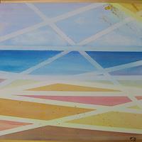 Florian-Freeman-Landschaft-See-Meer-Landschaft-Sommer-Moderne-Art-Deco