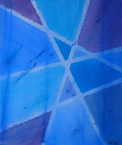 Florian Freeman, Blue, Abstraktes, Dekoratives, Colour Field Painting