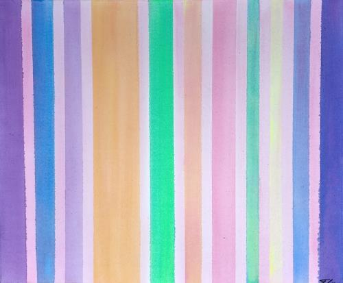 Florian Freeman, Stripes, Dekoratives, Abstraktes, Art Déco
