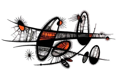 Ryn Shaparenko, aus der Serie Organoide, o.T., Abstraktes, Fantasie, Bauhaus, Abstrakter Expressionismus
