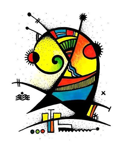 Ryn Shaparenko, o.T., Abstraktes, Bauhaus, Abstrakter Expressionismus