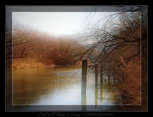 Klaas Kriegeris, alter Rhein, Natur: Wasser, Landschaft: Herbst, Romantik, Expressionismus