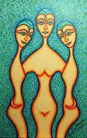 Dana-Manta-Menschen-Frau-Menschen-Gruppe-Moderne-Andere-Neue-Figurative-Malerei