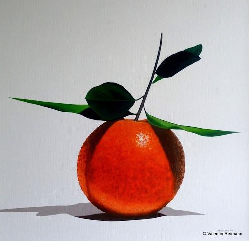 Valentin Reimann, Stilleben mit Frucht, Stilleben, Essen, Realismus, Abstrakter Expressionismus