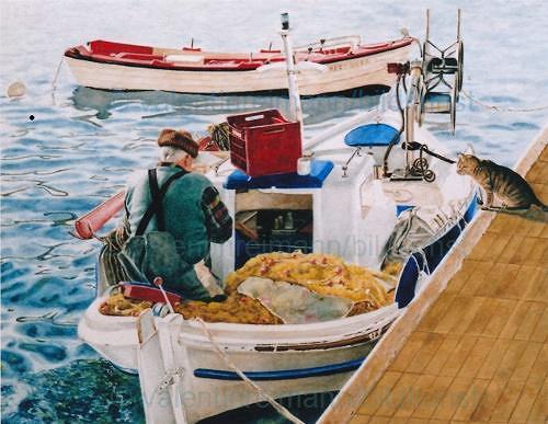 Valentin Reimann, !... Fish, Landschaft: See/Meer, Menschen: Mann, Realismus, Expressionismus