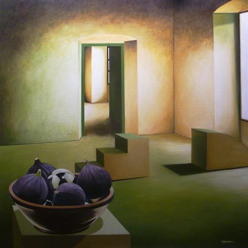 Valentin Reimann, Interieur, Stilleben, Wohnen, Realismus