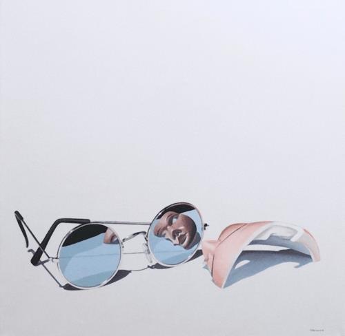 Valentin Reimann, Stilleben mit Brille und Durchblick, Stilleben, Diverses, Realismus, Abstrakter Expressionismus