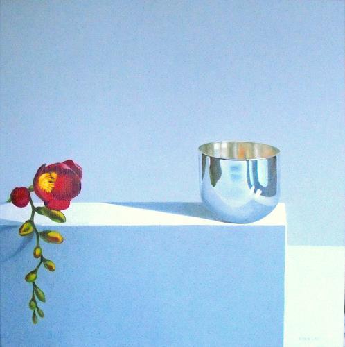 Valentin Reimann, Blume, Stilleben, Dekoratives, Realismus, Expressionismus