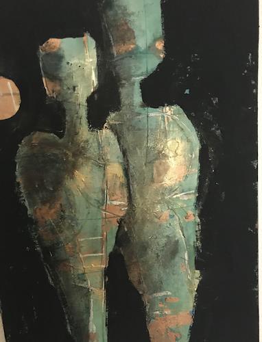 Doris Pade, O.T., Abstraktes, Abstrakte Kunst, Abstrakter Expressionismus