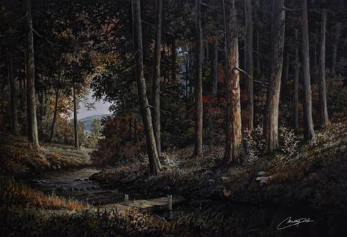 Disney, forest landscape, Landschaft: Herbst, Expressionismus
