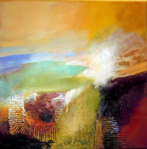 Ingrid Kainz, Ein schöner Tag, Abstraktes, Diverse Landschaften, Abstrakte Kunst