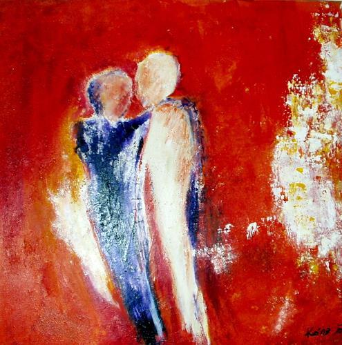 Ingrid Kainz, Liebespaar, Abstraktes, Abstrakte Kunst
