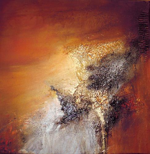 Ingrid Kainz, Goldfluss, Abstraktes, Abstrakte Kunst, Expressionismus
