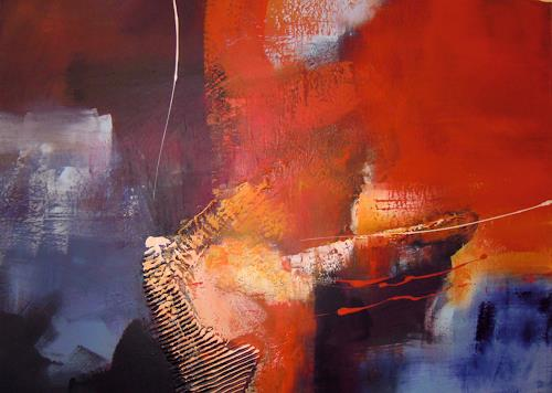 Ingrid Kainz, Sinkendes Schiff, Abstraktes, Abstraktes, Abstrakte Kunst
