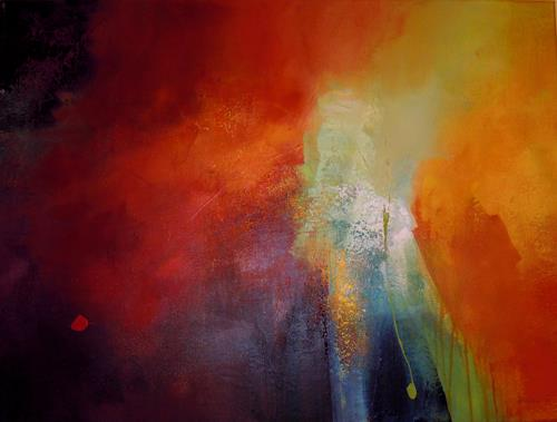 Ingrid Kainz, Frühlingsbeginn, Abstraktes, Abstraktes, Abstrakte Kunst