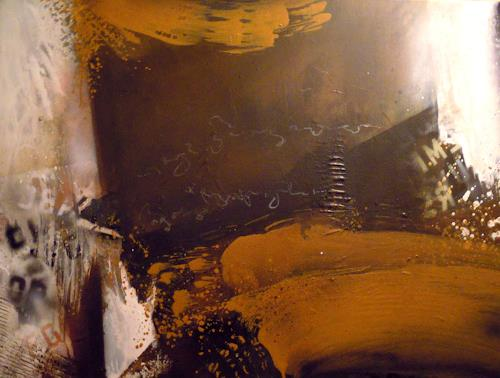 Ingrid Kainz, Braun, Abstraktes, Abstrakte Kunst