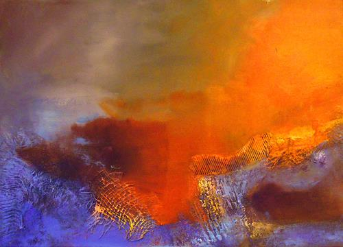Ingrid Kainz, Landschaft 2, Abstraktes, Abstrakte Kunst, Expressionismus